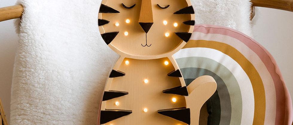 Lampe bois Tigre