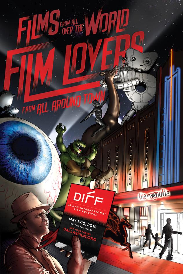 Dallas International Film Festival 2018 Poster, Version 2