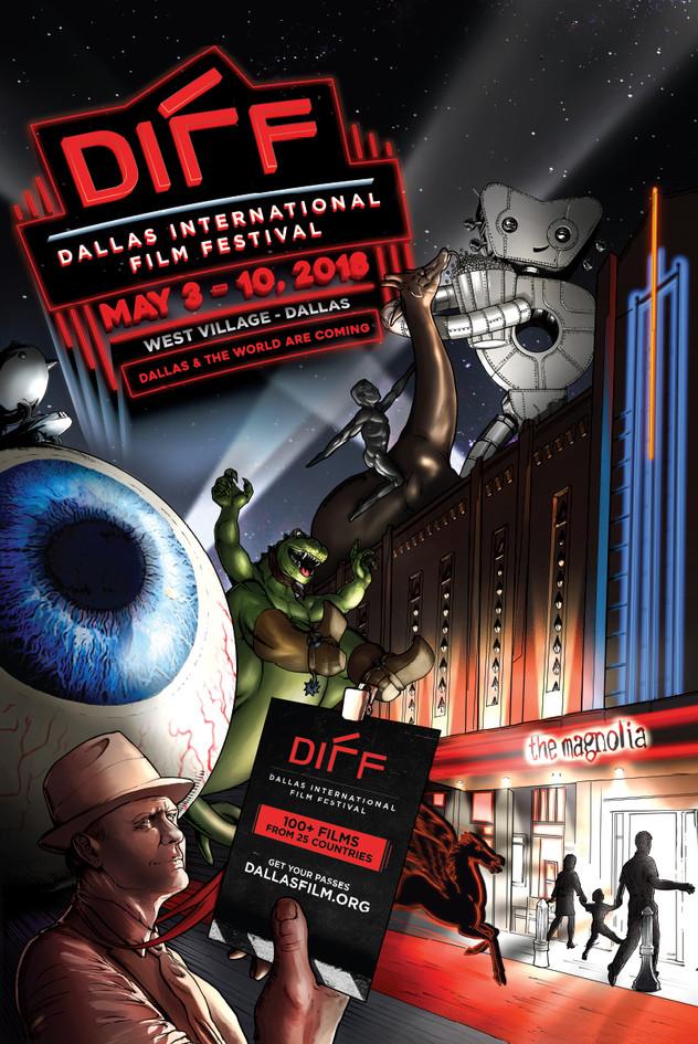 Dallas International Film Festival 2018 Poster, Version 1