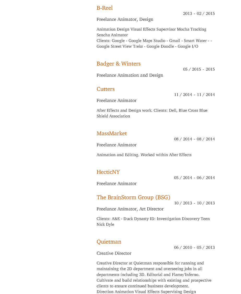 Anthony Ferrara New York City Resume
