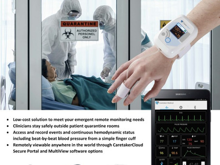 Australia's first 'virtual hospital' for COVID-19 patients use Caretaker Medical wireless patient