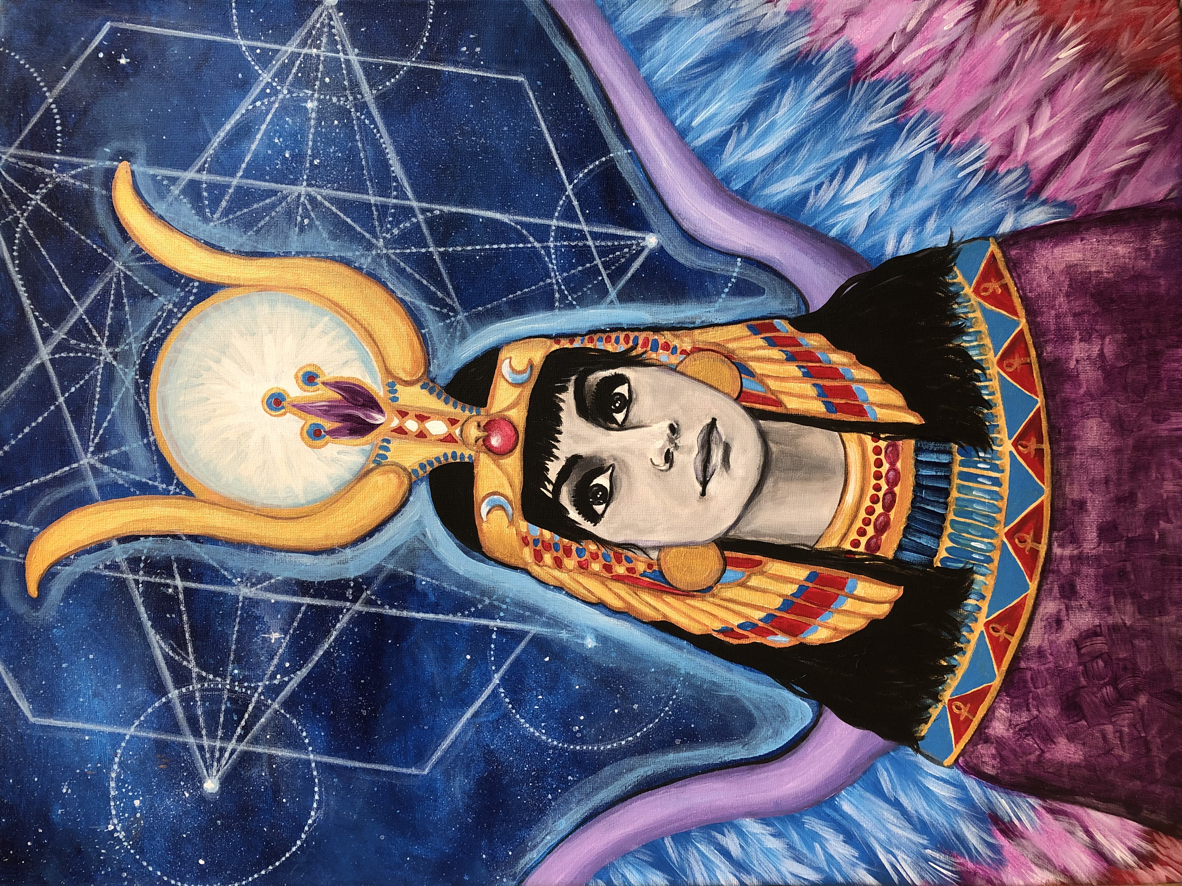 Goddess Isis...Magical Realism Portrait of Veronica R-S