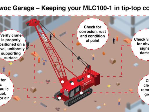 Die Manitowoc-Garage – so halten Sie Ihren MLC100-1 in einwandfreiem Zustand