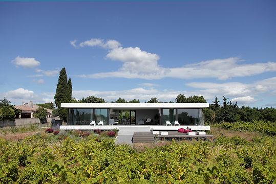 MAISON V, HOUSE V, villa, maison bio-climatique, éco-construction, architecture moderne, habitation individuelle