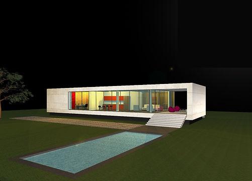 MAISON A, HOUSE A, villa, maison bio-climatique, éco-construction, architecture moderne, habitation individuelle