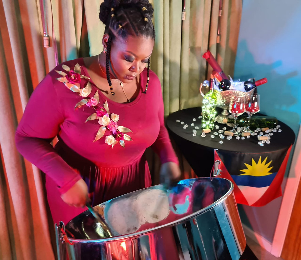 Maurisha Potter of Antigua and Barbuda during her performance for the prelims