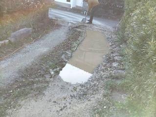 唐津市山本M様邸の駐車場コンクリート整備です