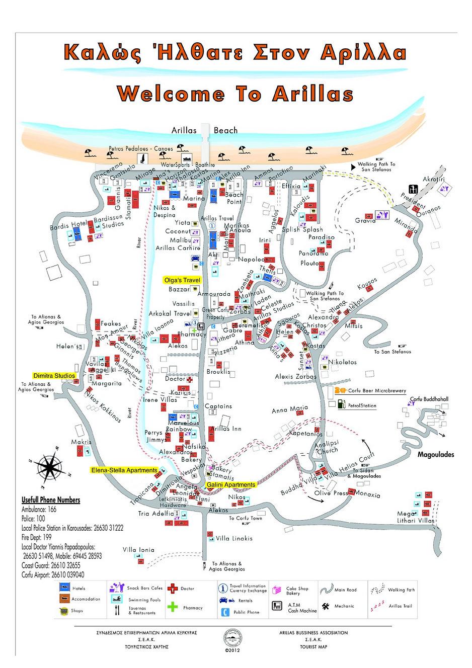Arillas Map