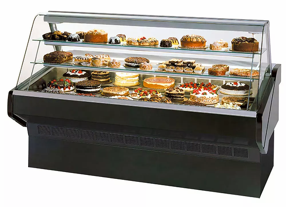 """Federal 36"""" Full Service Bakery Case w/ Curved Glass"""