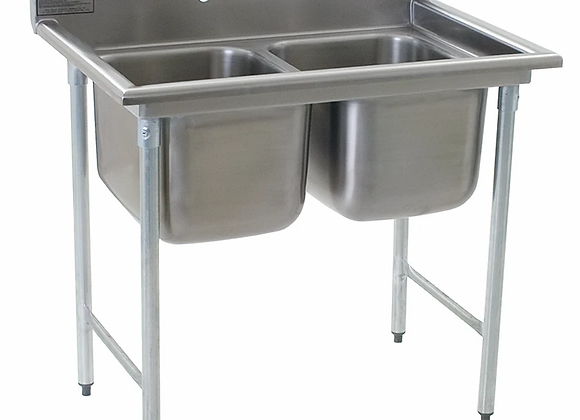 """Eagle Group 314-16-2 41"""" 2 Compartment Sink"""