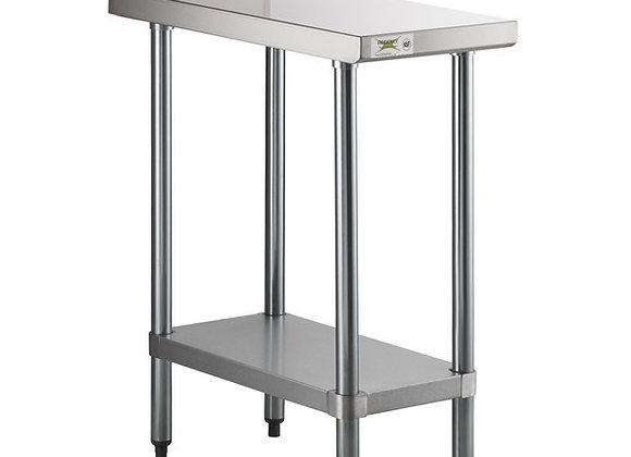 "30"" x 15"" 18-Gauge 304 Stainless Steel Equipment Filler Table"