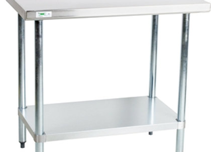 """30"""" x 36"""" 18-Gauge 304 Stainless Steel Commercial Work Table"""