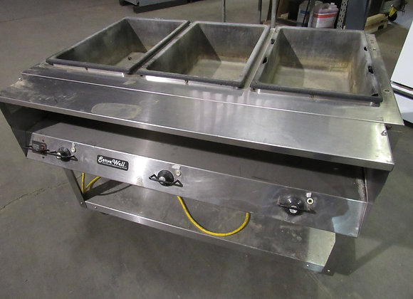 Vollrath 38103 ServeWell Electric 3-Well Hot Food Table