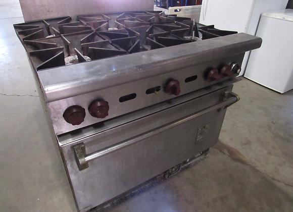 "Wolf C36S-6B 36"" 6 Burner Gas Range w/ Standard Oven"