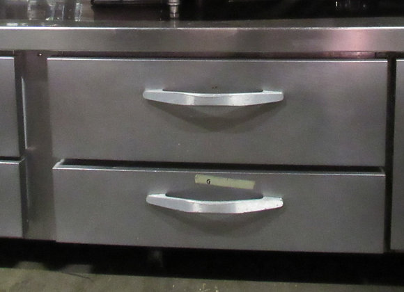 """Beverage-Air WTRCS84HC-FLT 84"""" 4 Drawer Refrigerated Chef Base with Flat Top"""