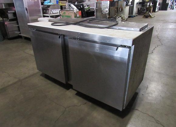 "Continental Refrigerator SW60-16 60"" 2 Door Refrigerated Sandwich Prep Table"