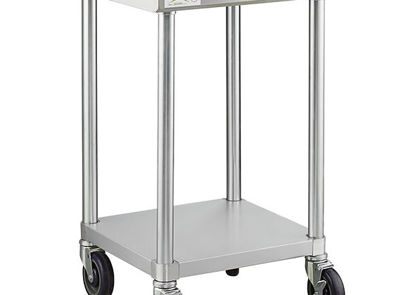 """24"""" x 24"""" 18-Gauge 304 Stainless Steel Commercial Work Table"""