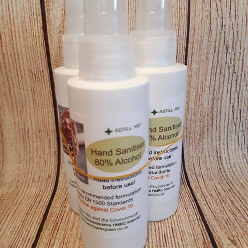 3 x 125ml Hand Sanitiser Sprays