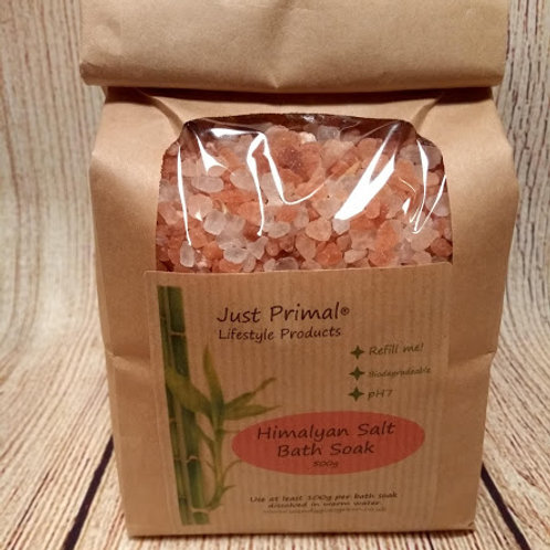 Himalayan Salt Bath Soak 600g Refill bag