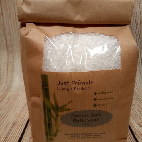Epsom Salt Bath Soak refill bag 500g