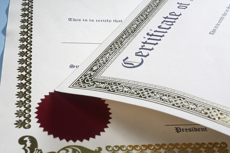 Certificate on the blue table..jpg