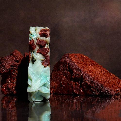 Organic Handmade Sweet Mint Dark Chocolate Soap