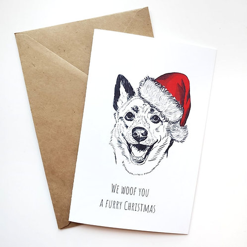 Pack of 3 Themed Greeting Cards w/ Digital Sketch