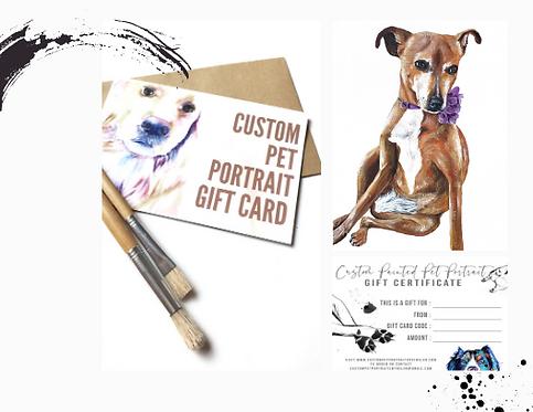 Custom Amount Gift Card
