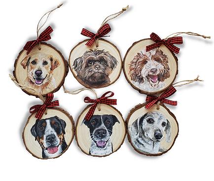 6 Wood Slice Ornament Bundle