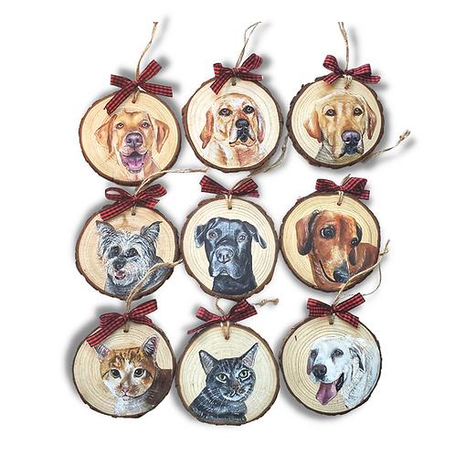 9 Wood Slice Ornament Bundle