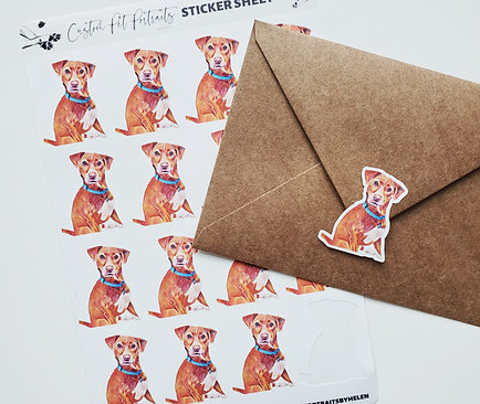ADD ON STICKER SHEETS: (not water resistant)*requires new/past portrait purchase