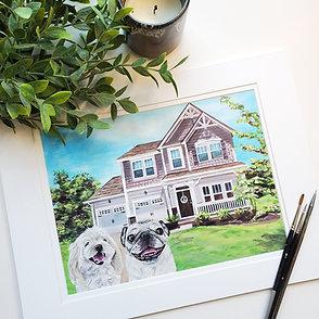 Custom House Pet Portraits