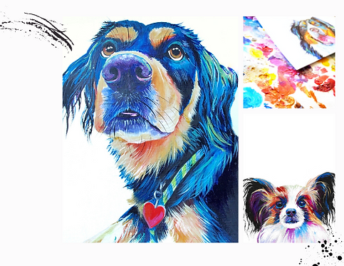 COLORFUL PET PORTRAIT ON PAPER
