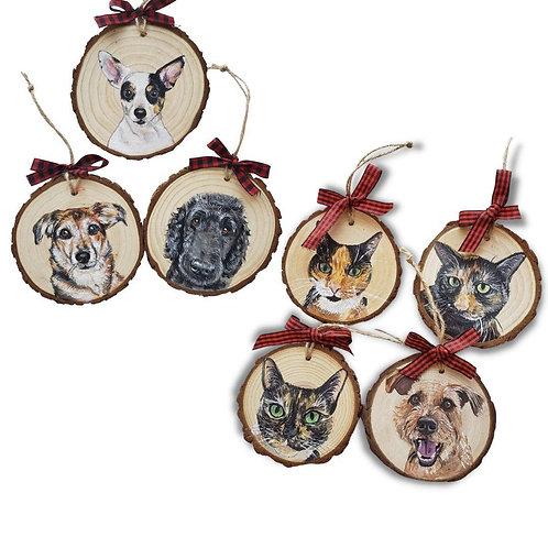 7 Wood Slice Ornament Bundle