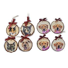 8 Wood Slice Ornament Bundle