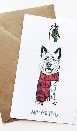 Single Themed Greeting Card w/ Digital Sketch