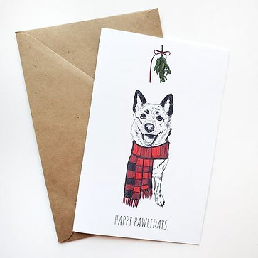 Pack of 10 Themed Greeting Cards w/ Digital Sketch