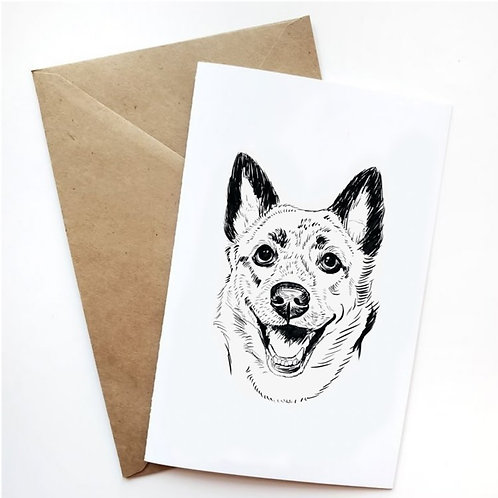 Pack of 10 Greeting Cards w/ Digital Sketch