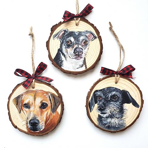 3 Wood Slice Ornament Bundle