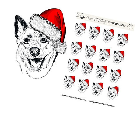 1 Themed Sticker Sheet w/ Digital Sketch
