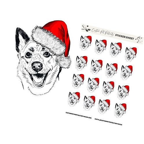5 Themed Sticker Sheets w/ Digital Portrait