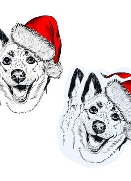Themed Vinyl Sticker w/ Digital Sketch