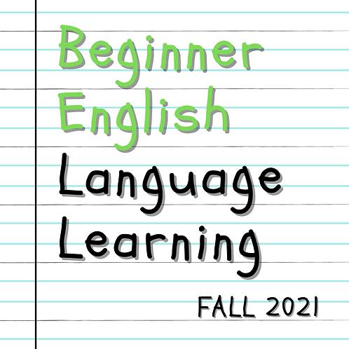 Fall 2021 - Evening Beginner English Language Learning