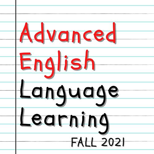 Fall 2021 - Advanced English Language Learning
