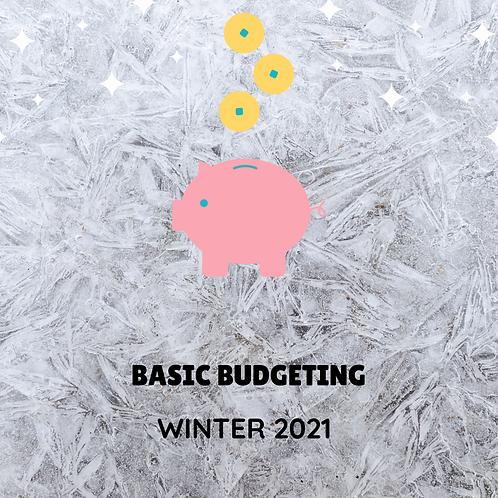 Winter 2022 - Basic Budgeting