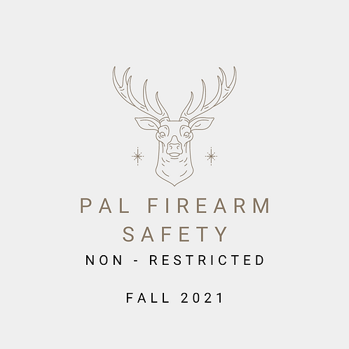 Fall 2021 - NonRestricted Firearm PAL Course