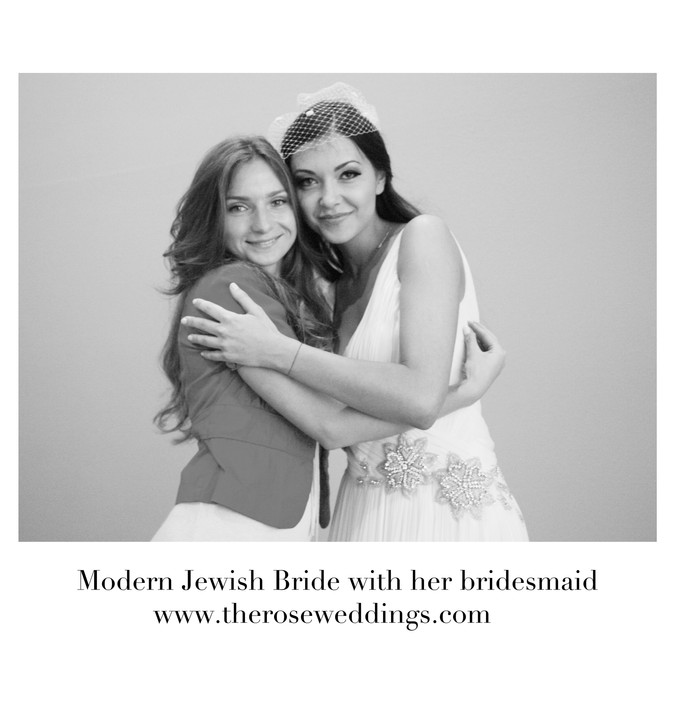 Modern Jewish Bride with her Bridesmaid
