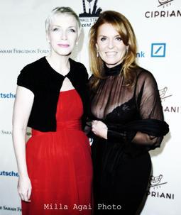 Annie Lennox and Sarah, Duchess of York