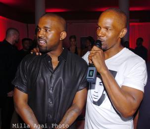 Kanye West and Jamie Foxx