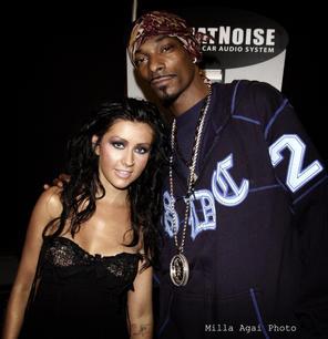 Christina Aguilera and Snoop Dogg